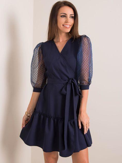 Granatowa sukienka Ambition