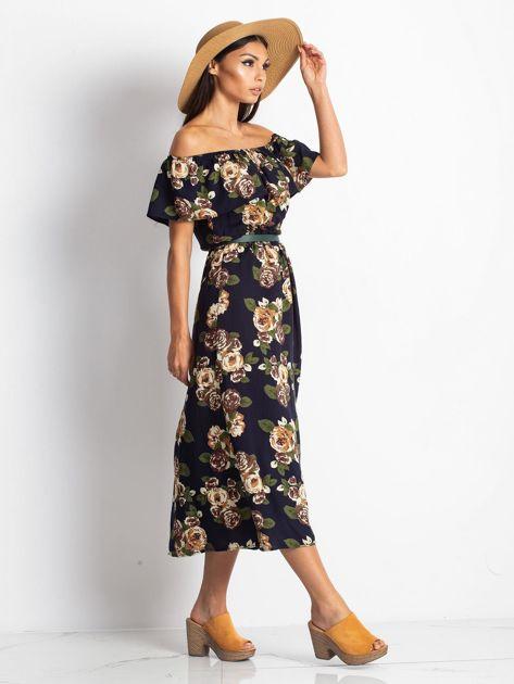 Granatowa sukienka Excellent                              zdj.                              3
