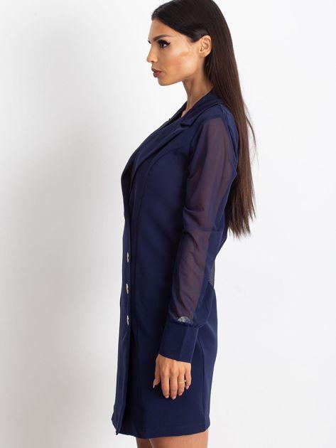Granatowa sukienka Master                              zdj.                              6