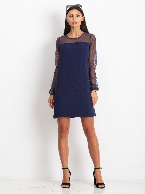 Granatowa sukienka Vanity                              zdj.                              4