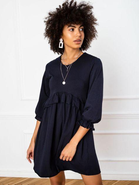 Granatowa sukienka Verity