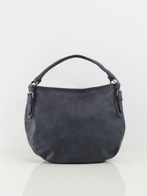 Granatowa torba damska ze skóry ekologicznej