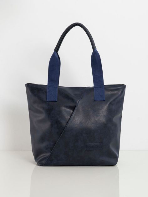 Granatowa torba z ekoskóry