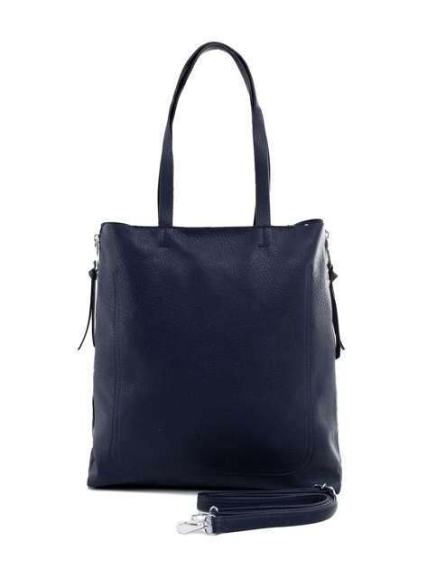 Granatowa torba ze skóry ekologicznej