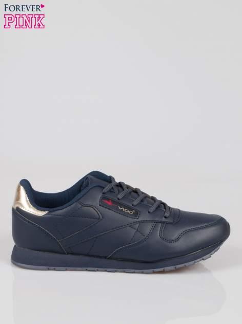 Granatowe buty sportowe ze złotym zapiętkiem