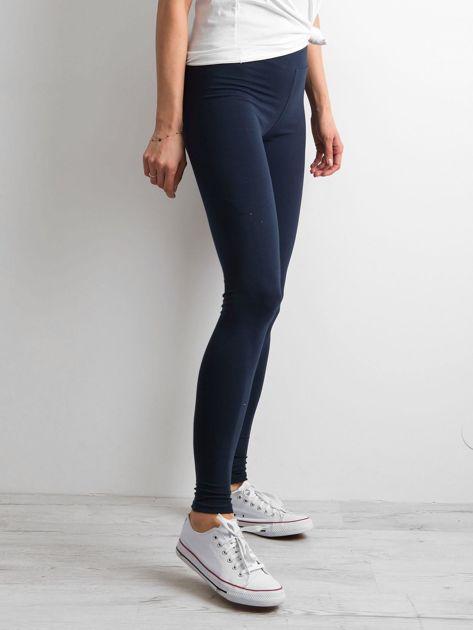 Granatowe legginsy Basic                              zdj.                              3