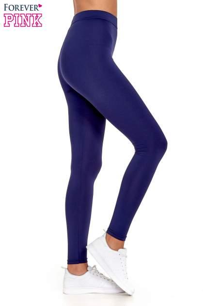 Granatowe legginsy basic z lekkim ociepleniem                                  zdj.                                  3