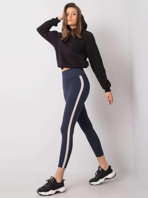 Granatowe legginsy bawałniane Kali RUE PARIS