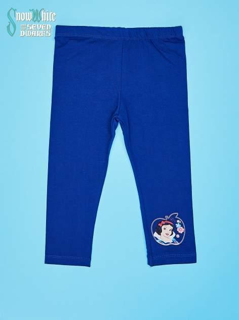 Granatowe legginsy dla dziewczynki KRÓLEWNA ŚNIEŻKA