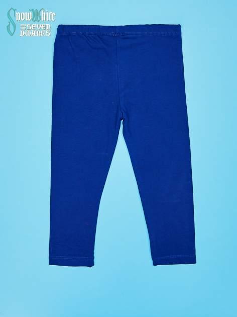 Granatowe legginsy dla dziewczynki KRÓLEWNA ŚNIEŻKA                                  zdj.                                  2
