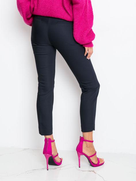 Granatowe spodnie Crystal                              zdj.                              2