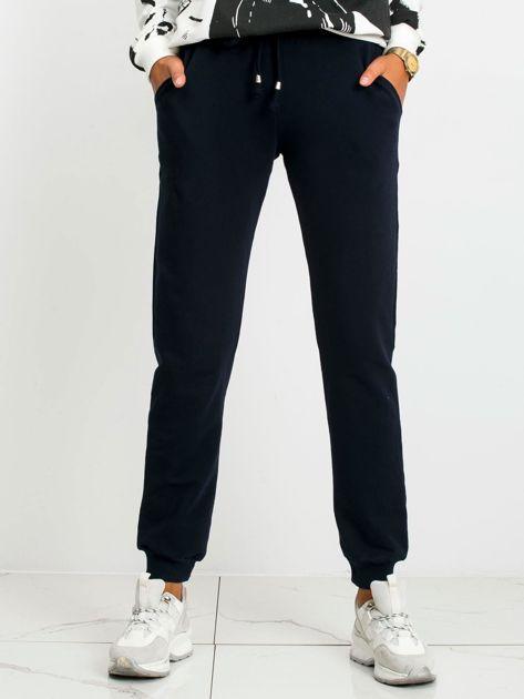 Granatowe spodnie Faster                              zdj.                              1