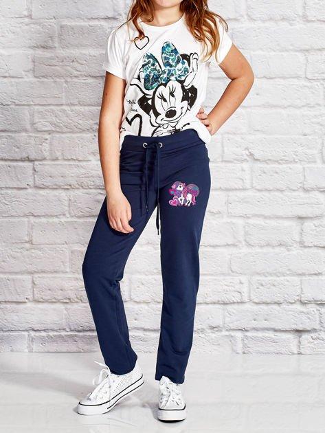 Granatowe spodnie dresowe dla dziewczynki LITTLE PONY                                  zdj.                                  4