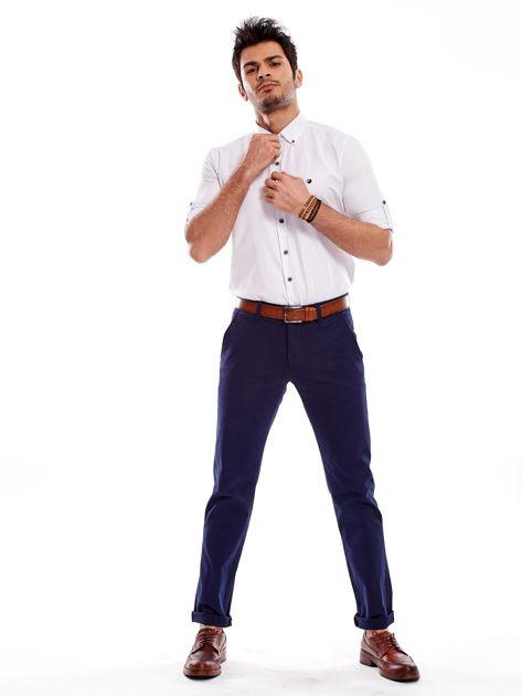 Granatowe spodnie męskie regular                              zdj.                              4