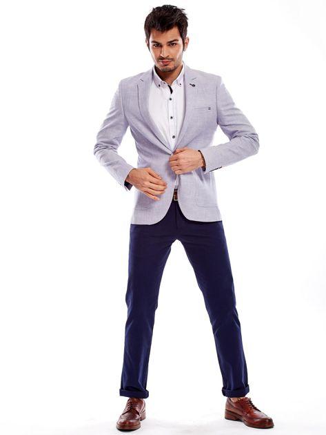Granatowe spodnie męskie regular                              zdj.                              16