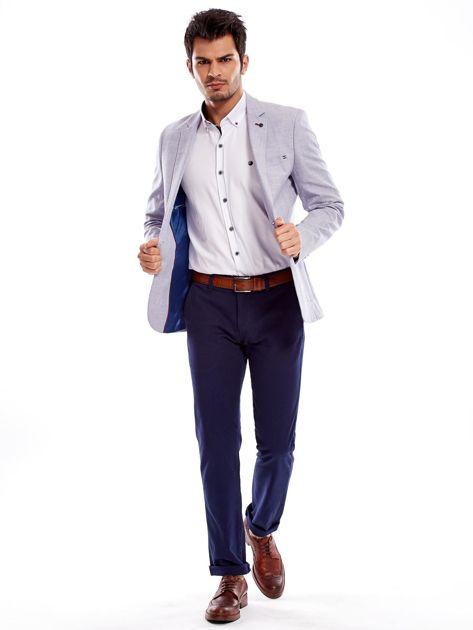 Granatowe spodnie męskie regular                              zdj.                              17
