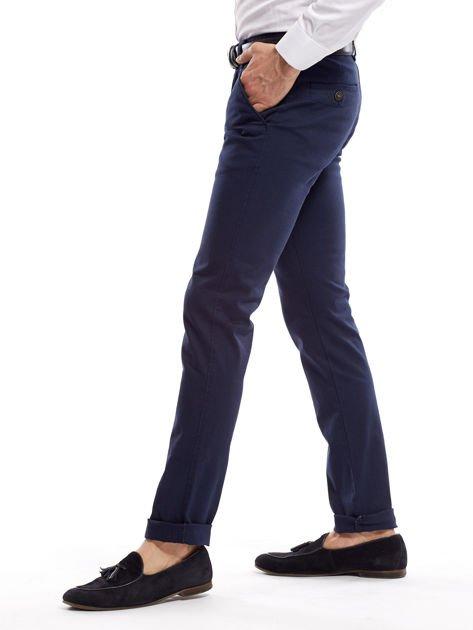 Granatowe spodnie męskie slim fit                              zdj.                              15