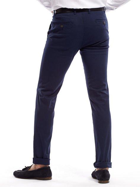 Granatowe spodnie męskie slim fit                              zdj.                              2