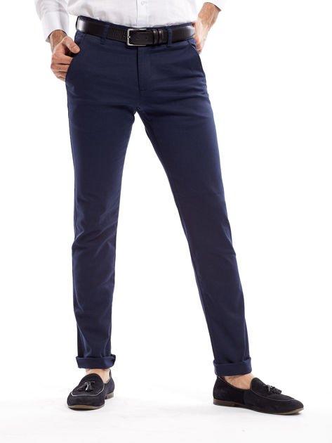 Granatowe spodnie męskie slim fit                              zdj.                              17