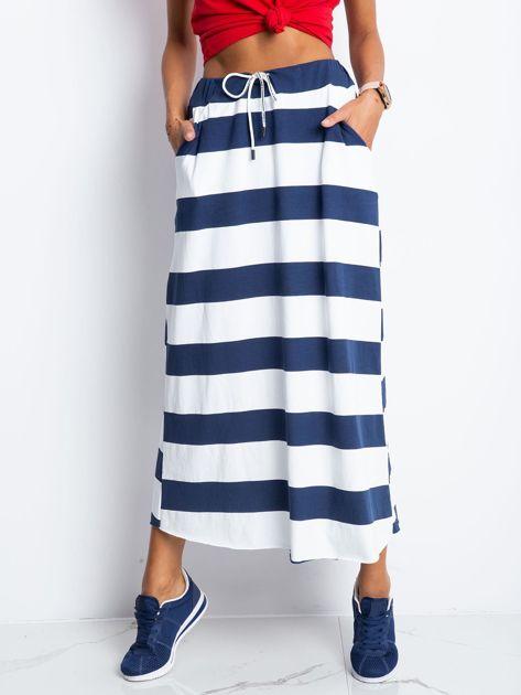 Granatowo-biała spódnica Freshest                              zdj.                              1