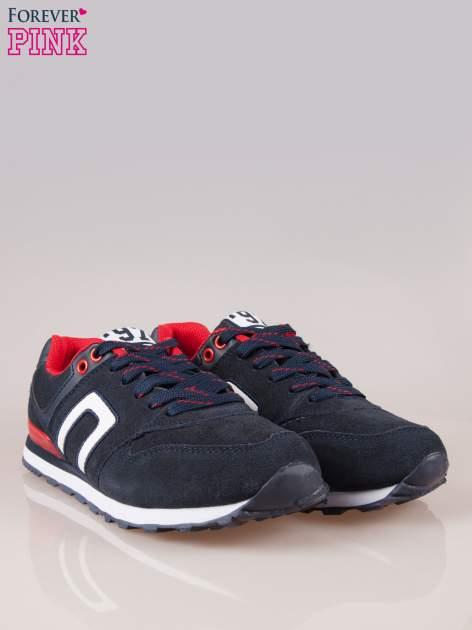 Granatowo-czerwone buty sportowe damskie                                  zdj.                                  2