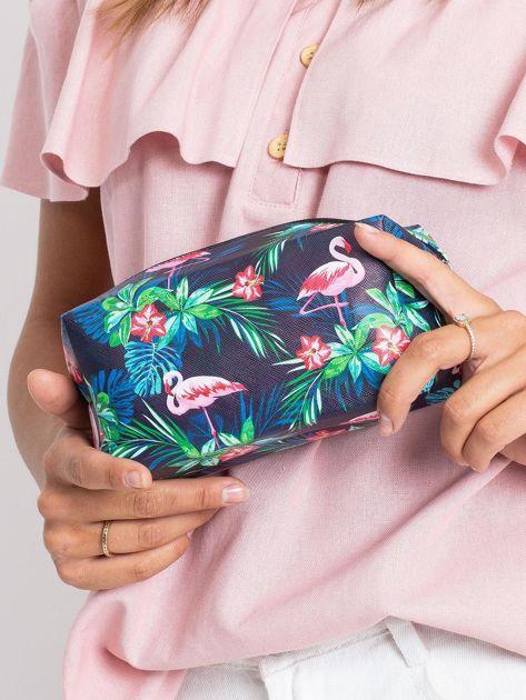 Granatowo-różowa torba z nadrukiem                              zdj.                              5