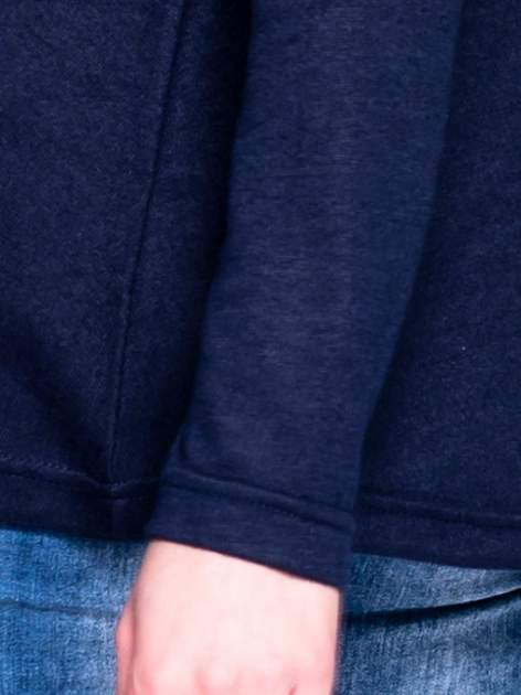 Granatowy klasyczny sweterek                                  zdj.                                  5