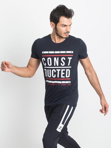 Granatowy męski t-shirt TOMMY LIFE