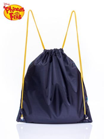 Granatowy plecak worek DISNEY Fineasz i Ferb