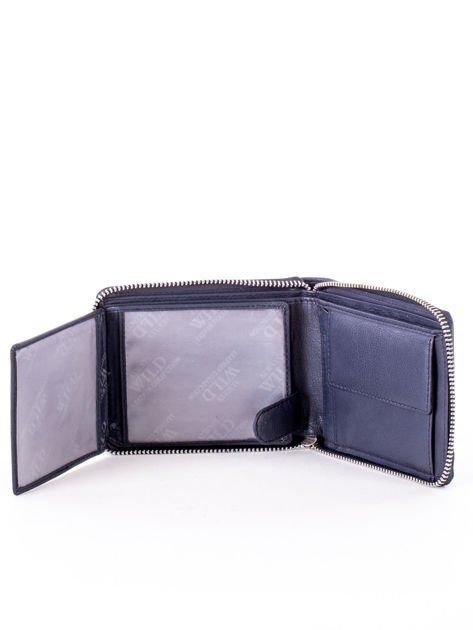 Granatowy portfel dla mężczyzny ze skóry naturalnej                              zdj.                              4