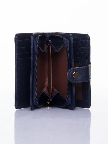 Granatowy portfel z zatrzaskiem                                  zdj.                                  6