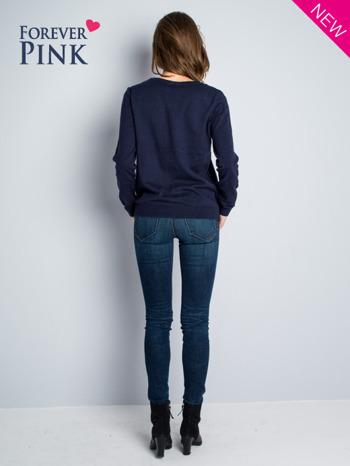 Granatowy rozpinany sweter z bawełny                                  zdj.                                  4