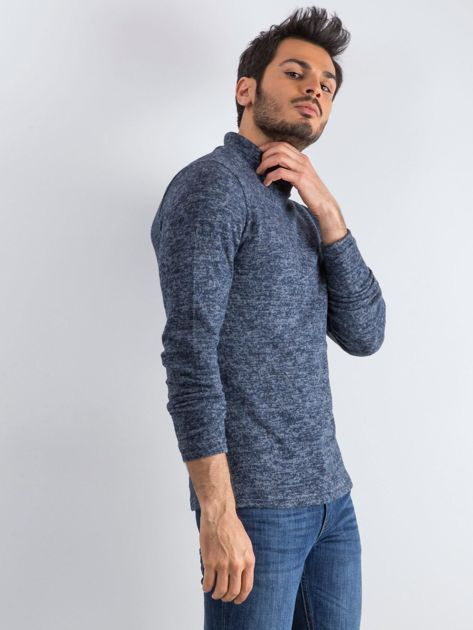 Granatowy sweter męski Allow                              zdj.                              4