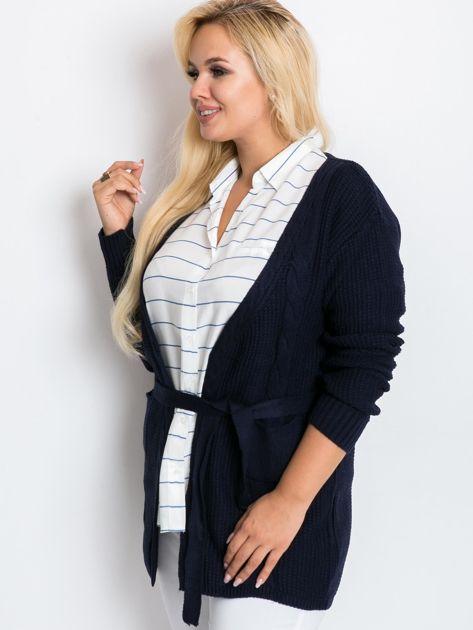 Granatowy sweter plus size Fluent                              zdj.                              3