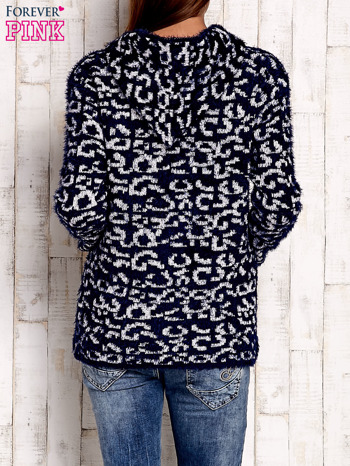 Granatowy sweter zapinany na suwak                              zdj.                              4