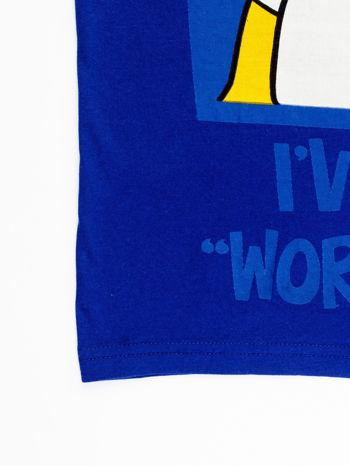 Granatowy t-shirt męski GARFIELD                                  zdj.                                  14