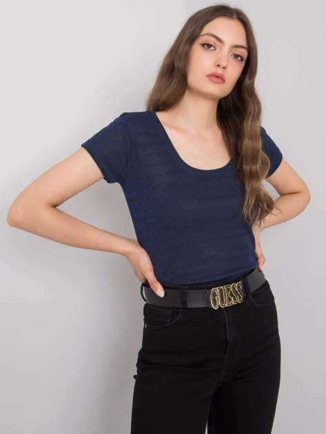 Granatowy t-shirt w paski Alexa RUE PARIS