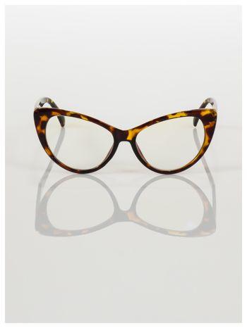HIT 2016 Modne okulary zerówki KOCIE OCZY w stylu Marlin Monroe- soczewki ANTYREFLEKS+system FLEX na zausznikach                                  zdj.                                  2