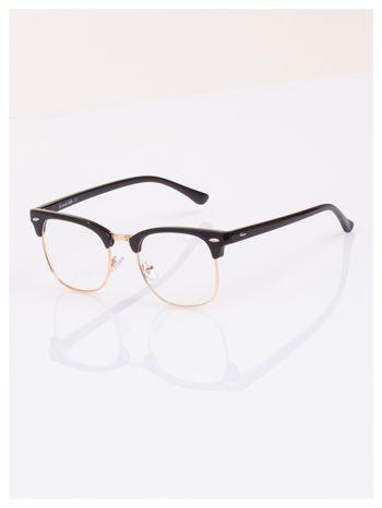 HIT 2016 Modne okulary zerówki typu CLUBMASTER- soczewki ANTYREFLEKS