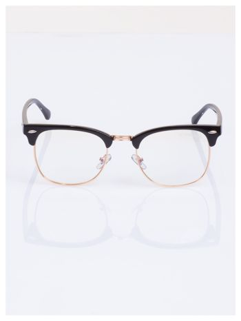 HIT 2016 Modne okulary zerówki typu CLUBMASTER- soczewki ANTYREFLEKS                                   zdj.                                  2