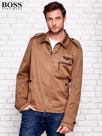HUGO BOSS Brązowa kurtka męska w stylu militarnym                                  zdj.                                  1
