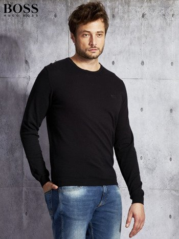 HUGO BOSS Czarny sweter męski                               zdj.                              3