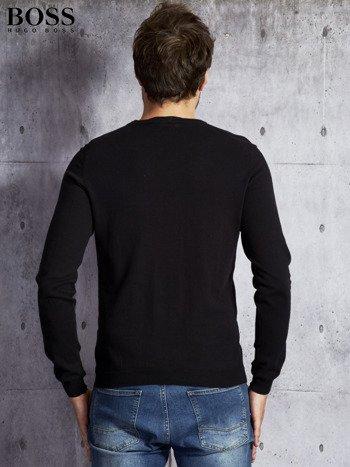 HUGO BOSS Czarny sweter męski                               zdj.                              2
