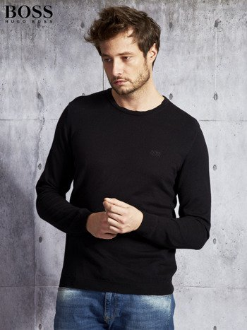 HUGO BOSS Czarny sweter męski                               zdj.                              1