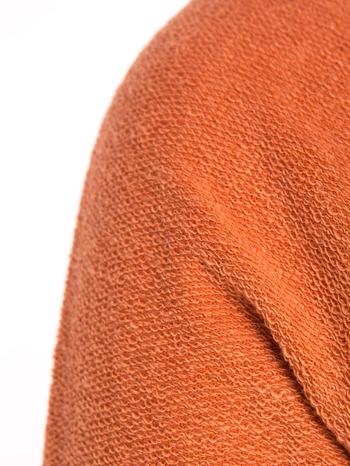 """""""HipsterCat' Pomarańczowa bluza z nadrukiem kota                                  zdj.                                  9"""
