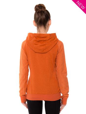 """""""HipsterCat' Pomarańczowa bluza z nadrukiem kota                                  zdj.                                  2"""