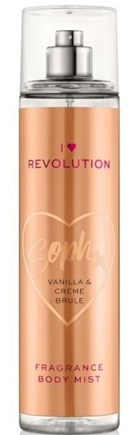 I Heart Revolution Fragrance Body Mist Mgiełka perfumowana do ciała SophX Vanilla&Crème brule 236ml