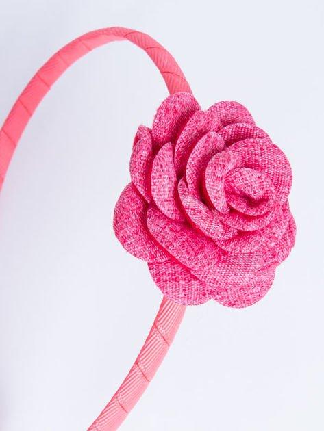 INCA Opaska do włosów malinowa z ozdobną różą                              zdj.                              3