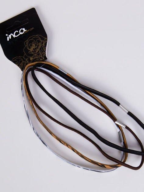 INCA Zestaw 4 szt. elastycznych opasek do włosów                              zdj.                              1