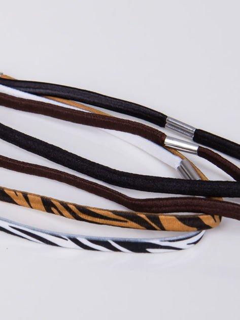 INCA Zestaw 4 szt. elastycznych opasek do włosów                              zdj.                              3
